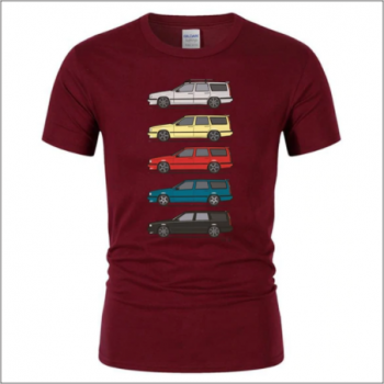 Volvo 850 T-shirt - Dark RED